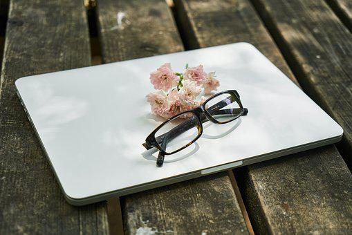 Laptop, Flower, Eyewear, Computer, The Work, Technology
