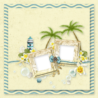 Scrapbooking, Decor, Ornament, Photo Frame, Frame
