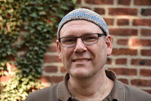 Rabbi, Smile, Smiling Guy, Glasses