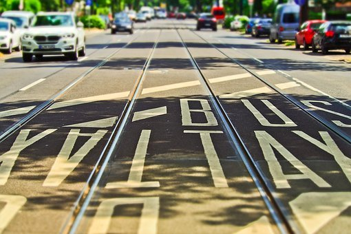 Road, Gleise, Tram Tracks, Seemed, Train, Traffic, City