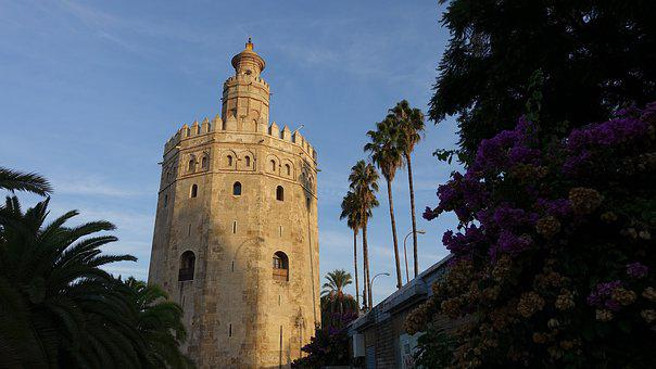 The Golden Tower Of The, The Morning Sun, Gold