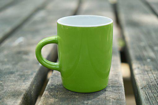 Coffee, Green, Glass, Cup, Porcelain, Health, Tea, Hot