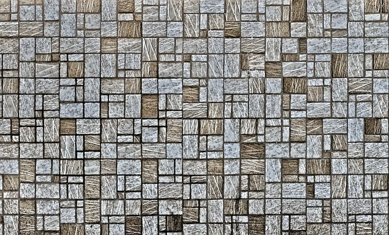 Mosaic, Facade, Clinker, Hauswand, Background, Joints