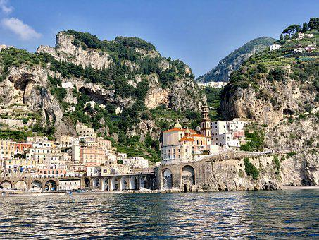 Amalfi Coast, Mountains, Mediterranean, Landscape