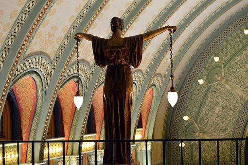 Union, Station, St Louis, Statue, Lighting, Indoor