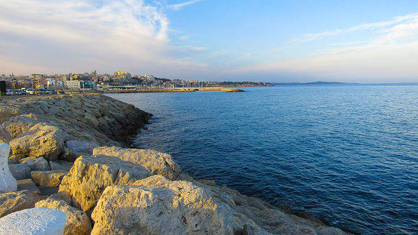 Tarragona, Bay, Port, Sea, Mediterranean Sea, Panorama