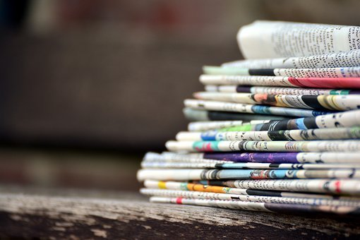 Newspapers, Paper Stack, Press, Information, Coffee Cup
