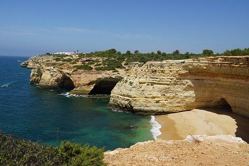 Portugal, Algarve, Coast, Landscape, Ocean, Water