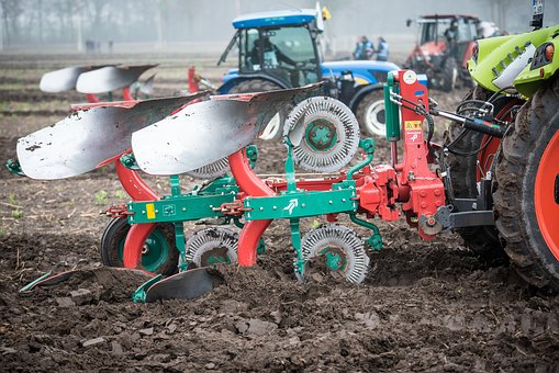 Plough, Rotary Plow, Plowed, Ackerfurchen, Arable