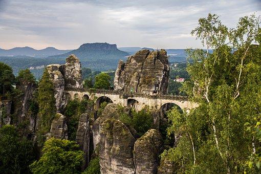 Saxony, Saxon Switzerland, Elbe Sandstone, Mountains