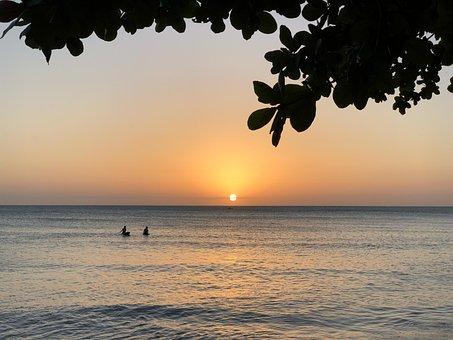 Beach, Sunset, Brazil, Ceara, Water, Sea, Landscape