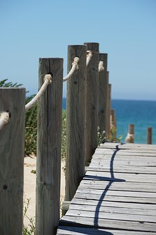 Wooden Track, Away, Sea, Wood Planks, Boardwalk, Path
