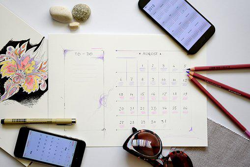 Planner, Plan, Planning, To-do, To Do List, August