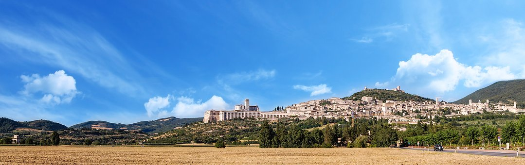 Assisi, Landscape, Italy, Umbria, City, Tourism, Trip
