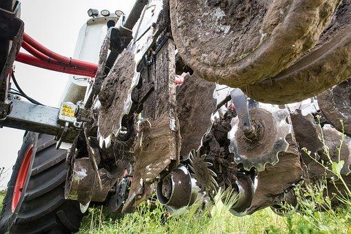Tractor, Gülle, Liquid Manure Spreader, Fertilization