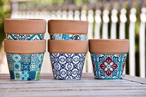 Vases, Terracotta Pots, Gardening, Terracotta, Stacked