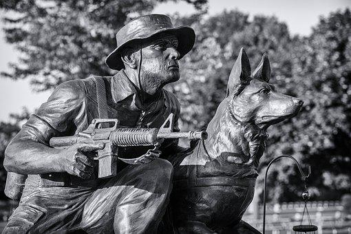 Military, Working, Dog, Tribute, War, Canine, Memorial