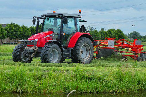 Tractor, Pasture, Farm, Countryside, Whey, Agricultural
