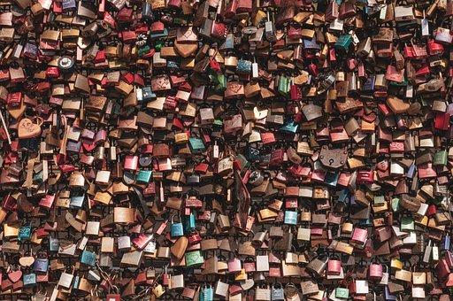 Love Locks, Texture, Background, Romantic, Love