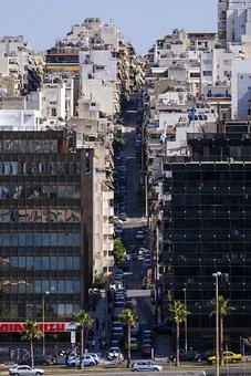Road, Away, City, Big City, Homes, Skyscrapers
