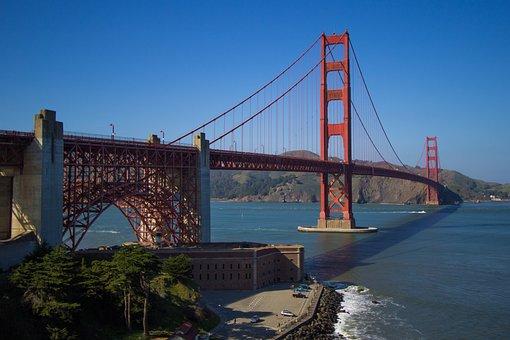 Goldengate, Bridge, Usa, Sanfrancisco, Architecture