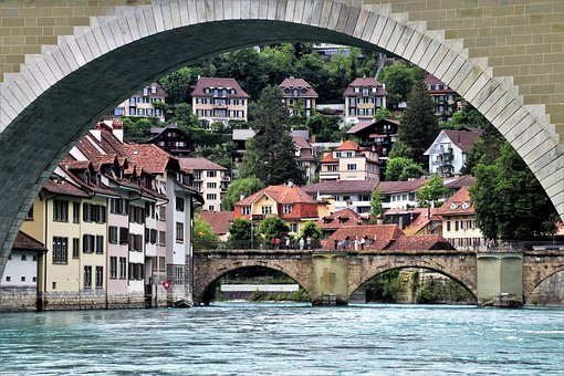 Bridge, River, Water, Buildings, Historical, Travel