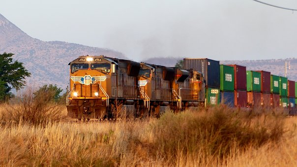 Train, Transport, American, Commodity, Cars, Rails