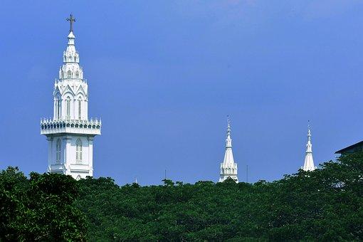 Church, Belltower, Catholic, Christianity, Building
