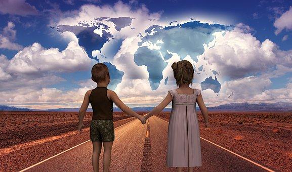 Road, Start, Children's Future, World, Continents