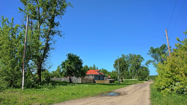 Village, Street, House, Old, Country House