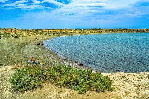 Cyprus, Akrotiri, Beach, Sea, Dunes, Nature, Sky