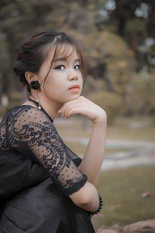 Young Girl, Sit Look, Depression From