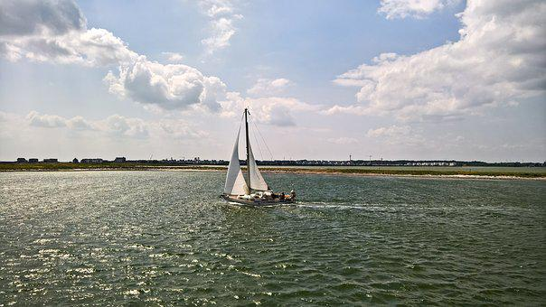 Sailing Boat, Ship, Einmaster, Schlei, Baltic Sea Fjord