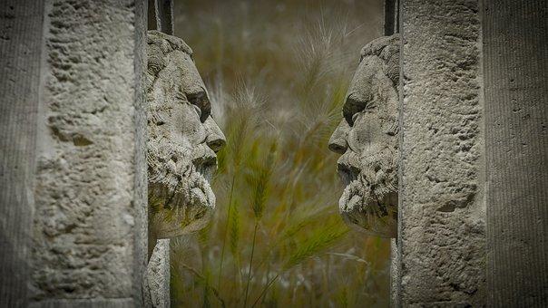 Stone, Face, Sculpture, Art, Head, Stone Figure