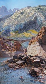Fantasy Landscape, River, Digital, Composite, Fantasy