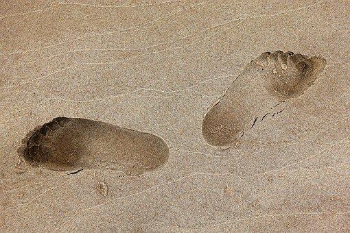 Footprint, Foot, Print, Sand, Beach, Footstep, Goofy