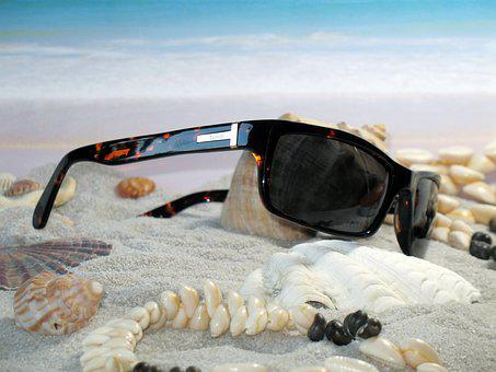 Glasses, Beach, Mussels, Fashion, Sea, Sunglasses