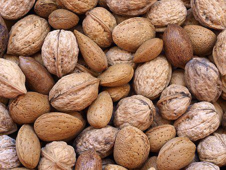 Dried Fruits, Nuts, Almonds, Pecans, Hard Shells