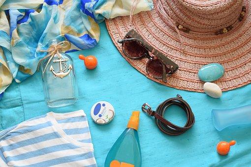 Summer, Summer Flat Lay, Flat Lay, Flatlay, Hat