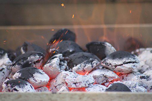 Charcoal, Briquettes, Embers, Barbecue, Carbon, Heat