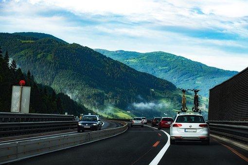 Road, Highway, Auto, Vehicles, Bridge, Landscape