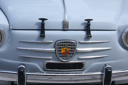 Fiat 500, Abarth, Hood, Vintage, Vintage Car