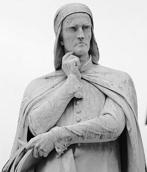 Dante, Italy, Monument, Statue, Verona, Sculpture, Poet