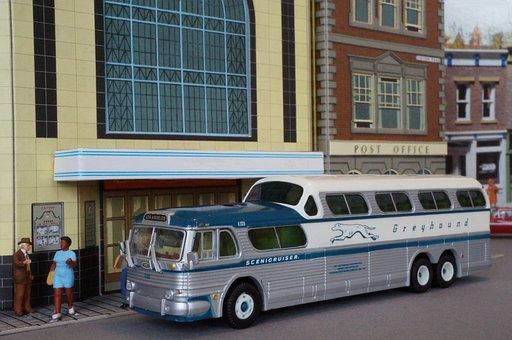 Bus Model, Model Car, Bus, Diorama, Greyhound, Usa