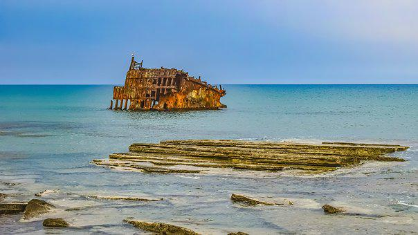 Shipwreck, Wreck, Sea, Nautical, Coast, Weathered