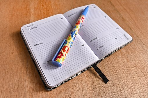 Agenda, Note Book, Schedule, Planner, Organizer, Memo
