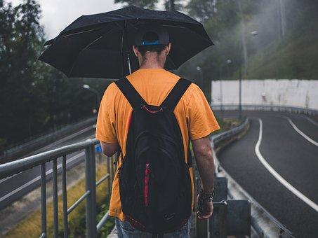 Rain, Person, Autumn, Outdoor, People, Umbrella, Street
