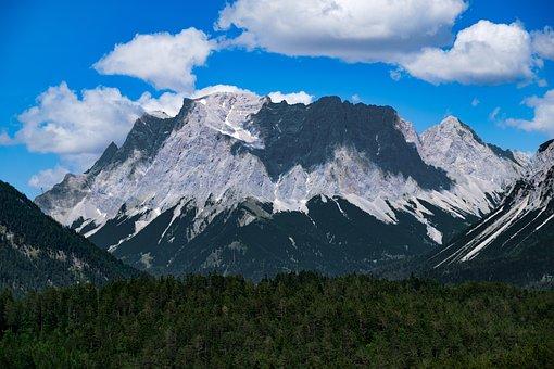 Landscape, Alpine, Mountains, Panorama, Zugspitze
