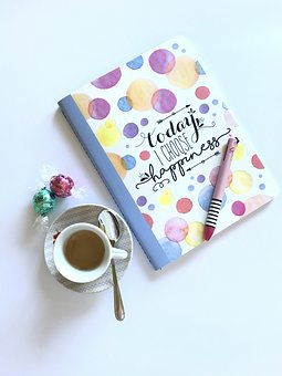 Breakfast, Coffee, Morning, Paper, Diary, Chocolate