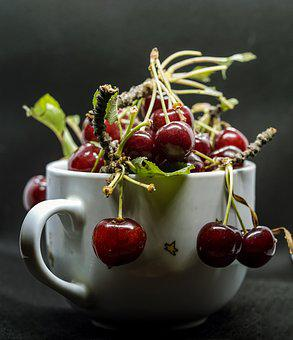 Cherry, Fruit, Food, Fresh, Ripe, Tasty, Red, Delicious